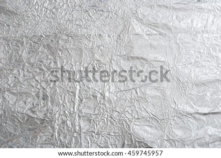 Shiny silver paper foil decorative texture background