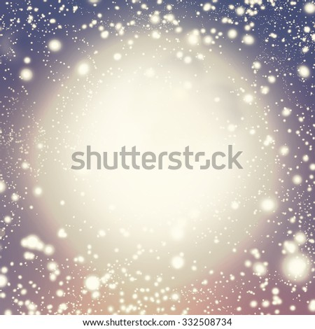 Shiny starry christmas background. Blurred Christmas Lights for Xmas Holiday Design. - stock photo