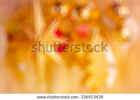 shiny  tree gifts and decoration in christmas and newyear in golden color - stock photo
