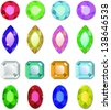 Shiny Vector Gemstones. Also see vector version - stock photo