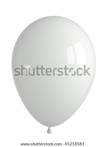 shiny white balloon
