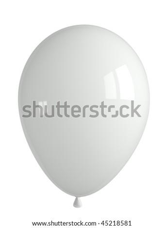 shiny white balloon - stock photo