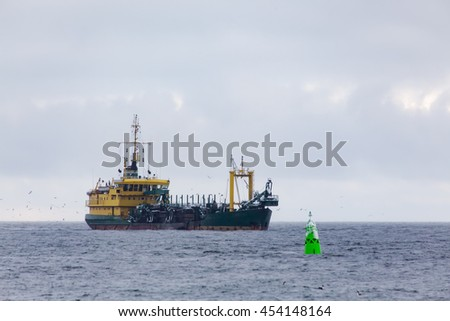 Ship at the coast of Swinoujscie - Poland