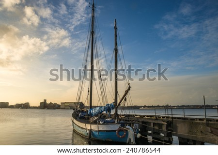 Ship at the pier - stock photo