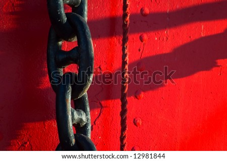 ship chain - stock photo