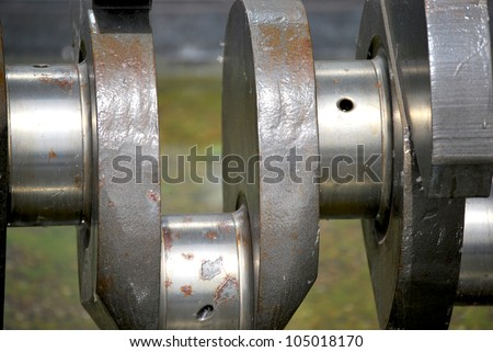 Ship gearshaft - stock photo