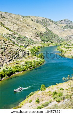 ship in Douro Valley, Portugal - stock photo