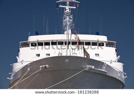 Ship in Port of Kiel, Germany - stock photo