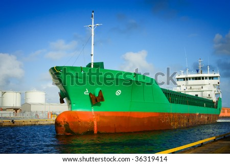 Ship In The Dock - stock photo