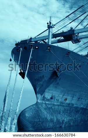 ship in the harbor  - stock photo