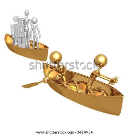Ship Of Fools Left Behind - stock photo