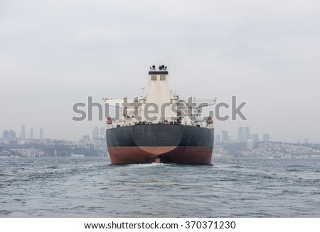 Ship on the Marmara Sea. Istanbul Bosphorus, Turkey