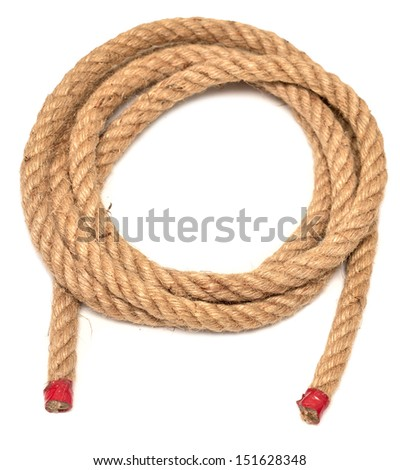 ship rope isolated on a white background - stock photo