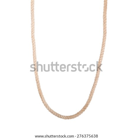 Ship rope  isolated on the white background.