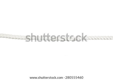 Ship rope isolated on the white background. - stock photo