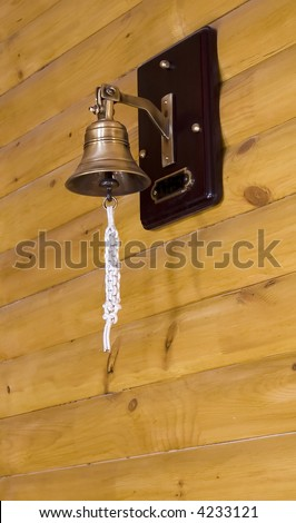 Ship's bell as a detail of interior