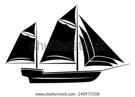 Ship Symbol - stock photo