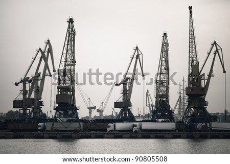 Shipment pier (stage) in the ukrainian seaport
