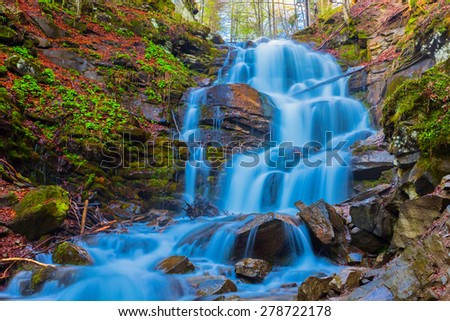 shipot waterfall scene - stock photo