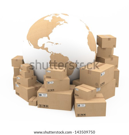 Shipping and delivery concept - stock photo