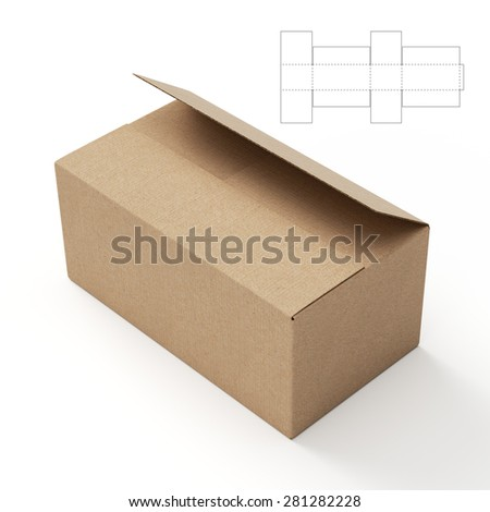 Shipping Box with Die Cut Template