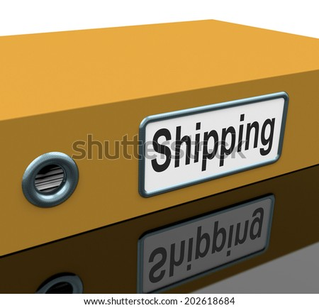 Shipping File Showing Folder Parcel And Organization