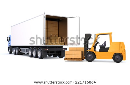 Shipping Logistic Service - stock photo