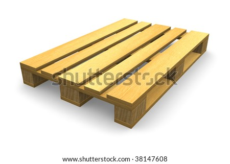 Shipping pallet - stock photo