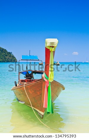 Ships at sea Phi Phi Island thailand
