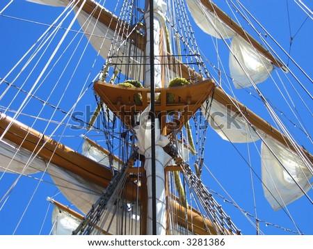 ships mast - stock photo