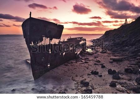 Shipwreck - stock photo