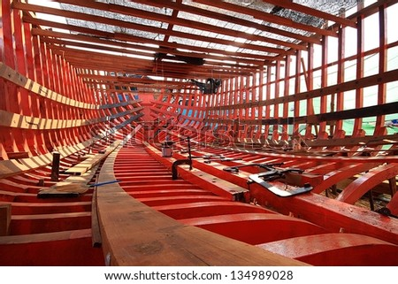 Shipyard in thailand - stock photo