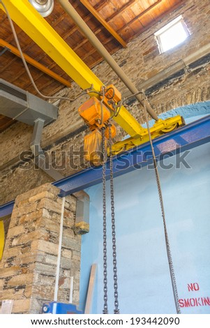 Shipyard industrial area and machinery tools - stock photo