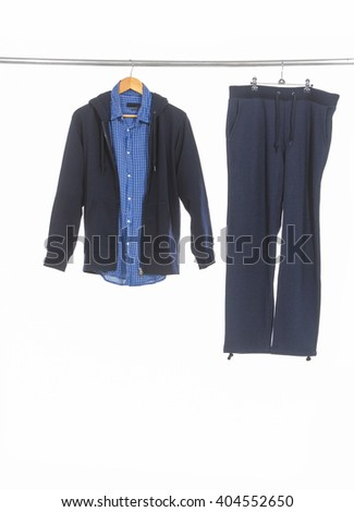 shirt and pants trousers isolated white. - stock photo
