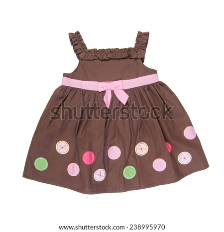 shirt. baby dress on the background. - stock photo