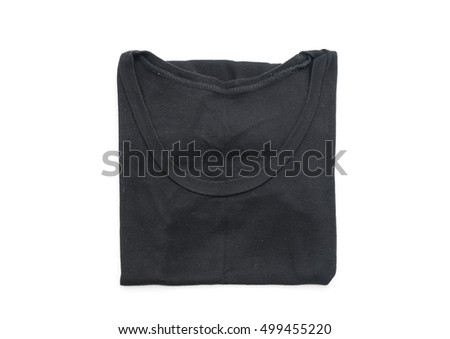 shirt. folded t-shirt on white background