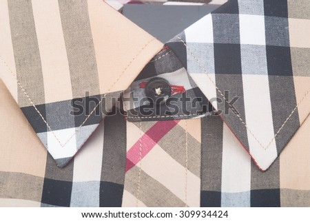 shirt. mens shirt closeup on background - stock photo