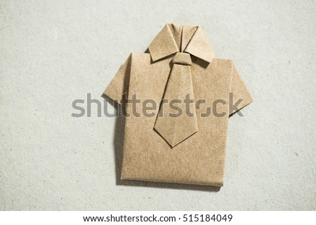 Shirt Origami Over White Paper Stock Photo Royalty Free 515184049
