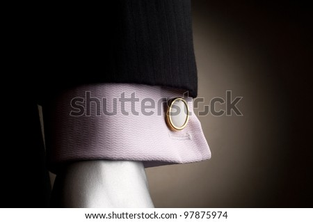 Shirt with cuff links