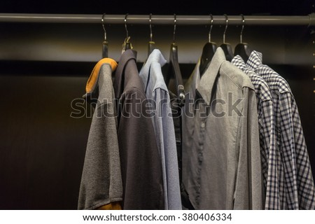 shirts in the wardrobe