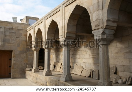 Shirvanshah kervansaray in Baku, Azerbaijan. - stock photo