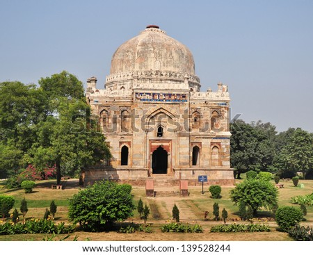Shish Gumbad in the Lodi Gardens is a beautiful structure and from what remains, it was an elegant and lavishly decorated monument when it was built. However, it is not known who is buried here.