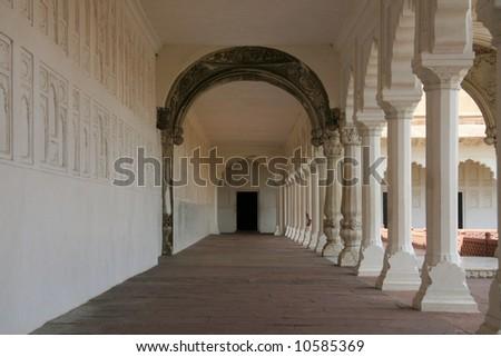 Shish Mahal (Glass Palace), Agra Fort, Agra, India - stock photo