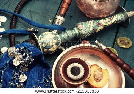 shisha and accessories - stock photo