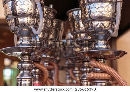Shisha pipes hookah - stock photo
