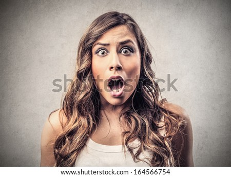 Shocked Girl - stock photo