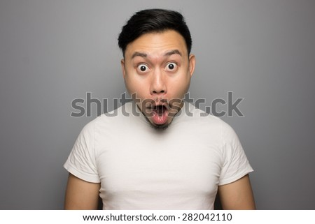 Shocked man. - stock photo