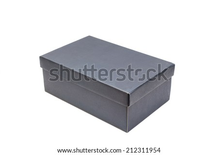 shoe box isolated on white  - stock photo