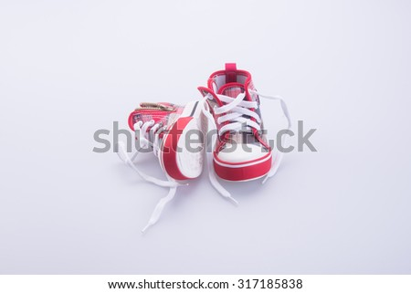 shoe or beautiful little boy shoes on a background