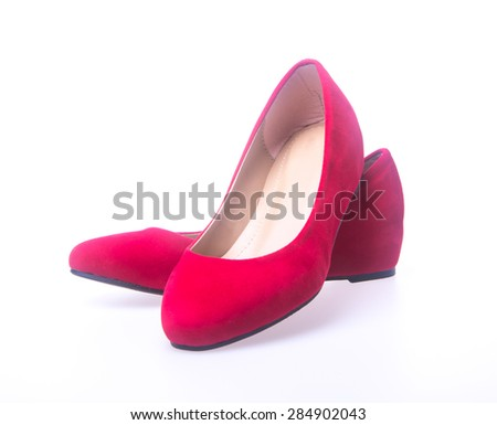 shoe. red and fashion woman shoes on a background